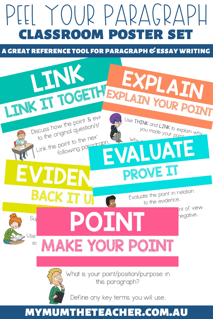 peel-your-paragraph-writing-posters