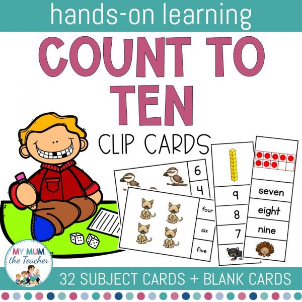 count-to-10-clip-cards-australian-animals