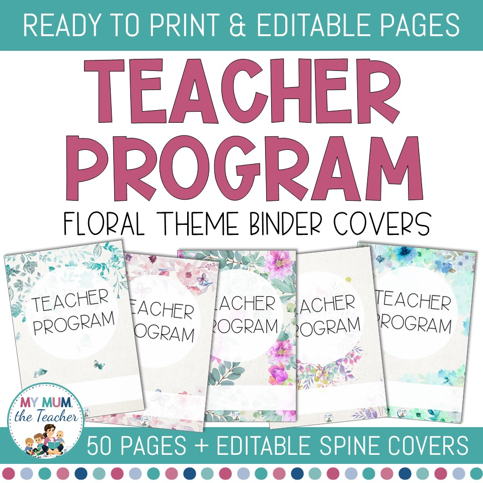 Editable Teacher Binder Covers