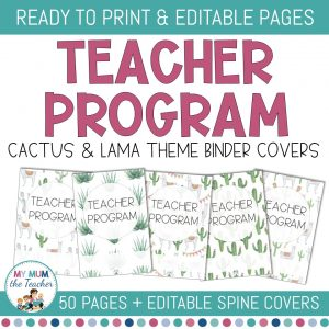 editable-teacher-binder-covers-cactus-lama-cover