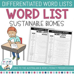 sustainable-biomes-differentiated-vocabulary-list