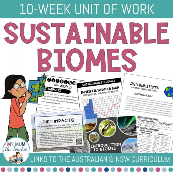 Sustainable-Biomes-Year-9-Geography-Unit-of-Work-cover