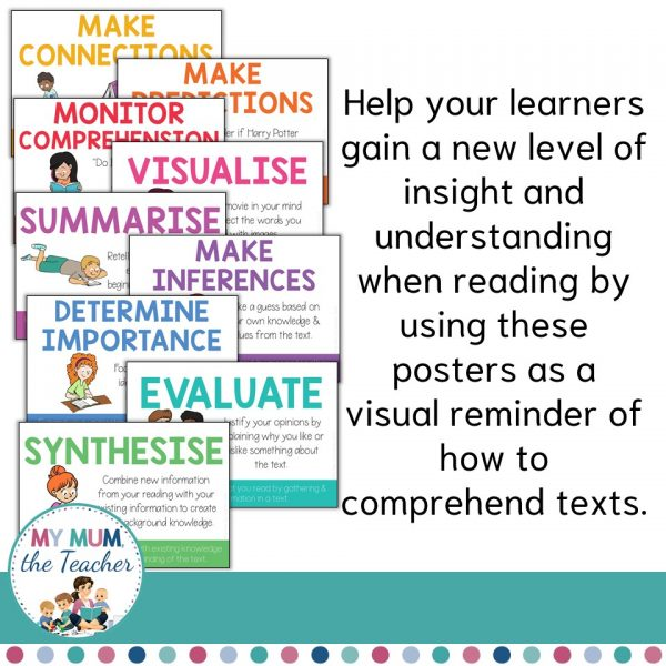 reading-comprehension-strategies-and-skills-poster-set