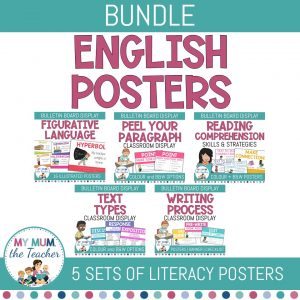English-Posters-Reading-Writing-Bundle